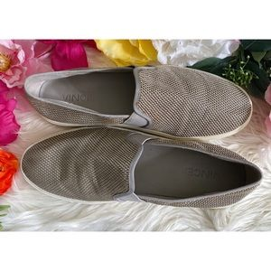 Vince Blair Perforated Leather Slip-ons Sneakers 9
